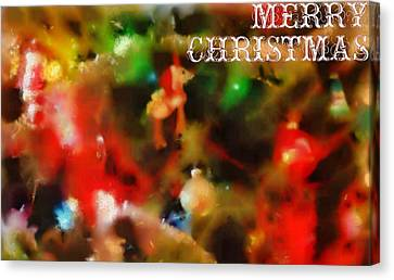 Merry Christmas Tree Decorations Canvas Print by Dan Sproul