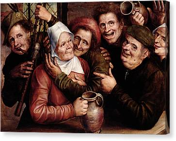 Merry Company Canvas Print by Jan Massys or Metsys