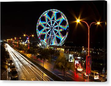 Merry Ferris Wheel Canvas Print