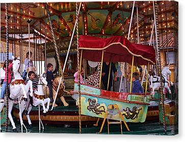 Merry Go Round Canvas Print by Dany Lison