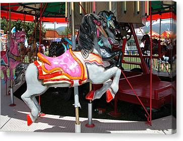 Canvas Print featuring the photograph Merry-go-round Horse by Mary M Collins