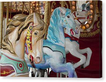 Merry-go-round Horses At Indiana State Canvas Print