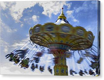Merry Go Round Swings Canvas Print