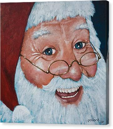 Merry Santa Canvas Print