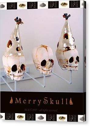 Merry Skulls Canvas Print