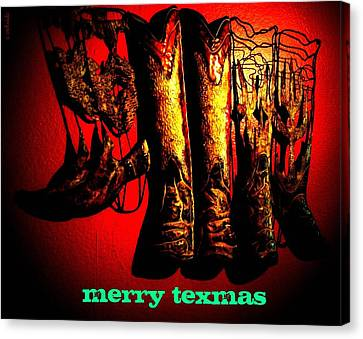 Merry Texmas Canvas Print by Chris Berry