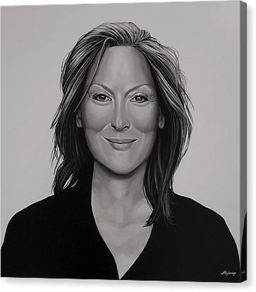 Meryl Streep Canvas Print by Paul Meijering