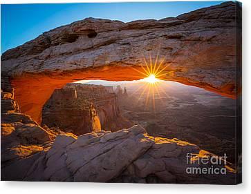 Mesa Arch Dawn Canvas Print by Inge Johnsson