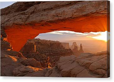 Mesa Arch Canvas Print by Doug Andrews