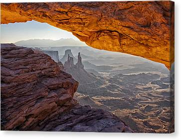 Mesa Arch Canvas Print by Mark Kiver