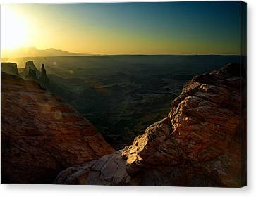 Mesa Arch Without The Arch Canvas Print