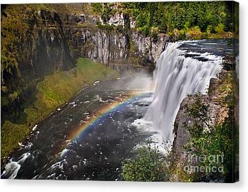 Haybale Canvas Print - Mesa Falls by Robert Bales