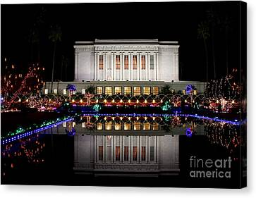 Canvas Print featuring the photograph Mesa Temple by Ruth Jolly