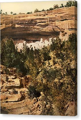 Mesa Verde Cliff Palace Canvas Print by Underwood Archives