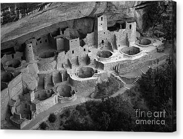 Mesa Verde Monochrome Canvas Print by Bob Christopher