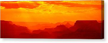 Mesas And Buttes Grand Canyon National Canvas Print