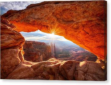 Mesa's Sunrise Canvas Print by Darren  White