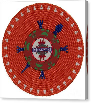 Meskwaki Orange Canvas Print