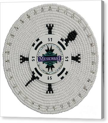 Meskwaki White Canvas Print