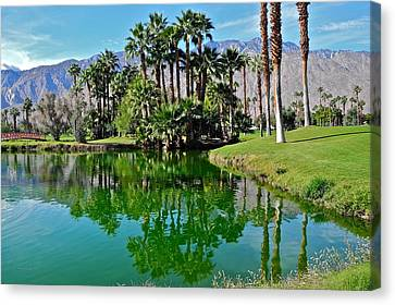 Mesquite Country Club Lake Canvas Print by Kirsten Giving