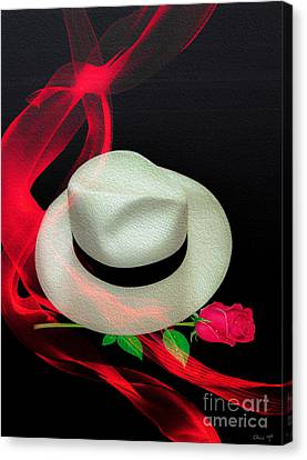 Message In A Hat Canvas Print