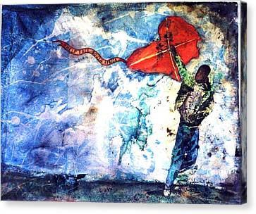 Message In The Wind Canvas Print by Ron Carson