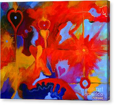 Canvas Print featuring the painting Message Of Love by Alison Caltrider