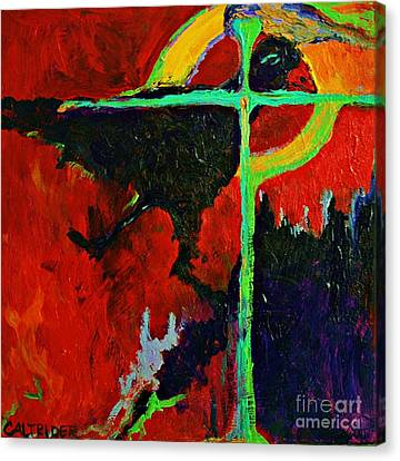 Canvas Print featuring the painting Message To The Spirit by Alison Caltrider