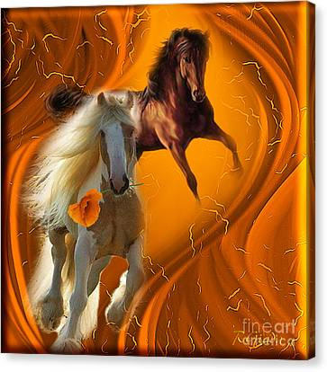 Canvas Print featuring the digital art Messenger Of Love - Fantasy Art By Giada Rossi by Giada Rossi