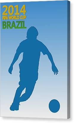 Messi Argentina World Cup Canvas Print by Joe Hamilton