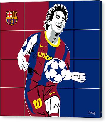 messi Football Canvas Print by Roby Marelly