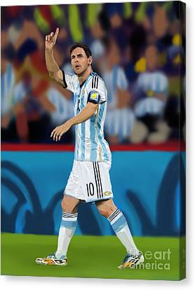 Messi Canvas Print by Jeremy Nash