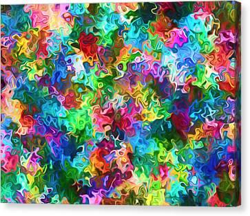 Messy Artist Palette Abstract Canvas Print by Georgiana Romanovna