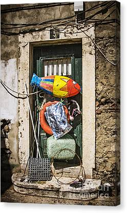 Messy Door Canvas Print by Carlos Caetano