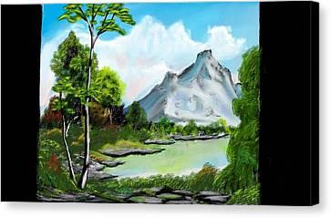 Messy Greenery Canvas Print by Arjuna Enait