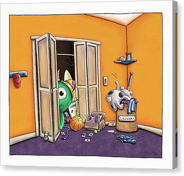 Messy Monsters Canvas Print by Dana Alfonso