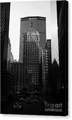 Manhatan Canvas Print - Met Life Building And 230 Park Avenue New York City by Joe Fox