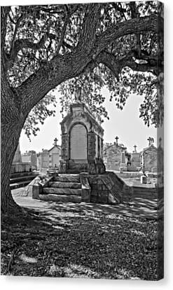 Metairie Cemetery Monchrome Canvas Print by Steve Harrington