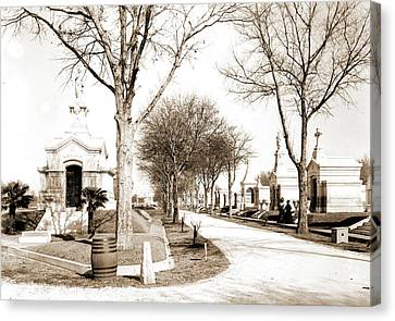 Metairie Cemetery Canvas Print - Metairie Cemetery, New Orleans, Cemeteries by Litz Collection