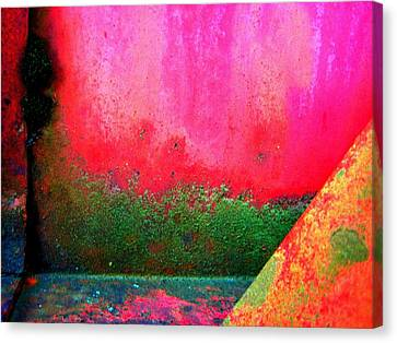 Metal Composition Canvas Print by Shirley Sirois