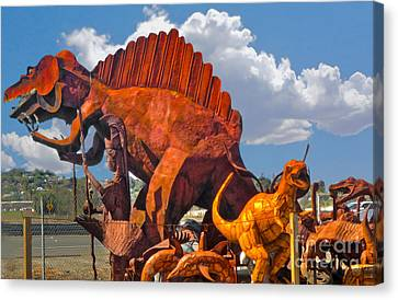 Metal Dinosaurs - 01 Canvas Print by Gregory Dyer