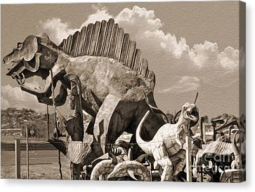 Metal Dinosaurs - 02 Canvas Print by Gregory Dyer