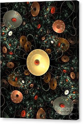 Metal Flower Canvas Print by Klara Acel