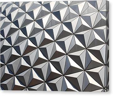 Canvas Print featuring the photograph Metal Geode by Chris Thomas