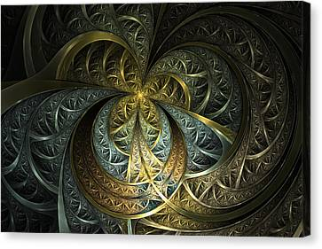 Metal Glass Canvas Print