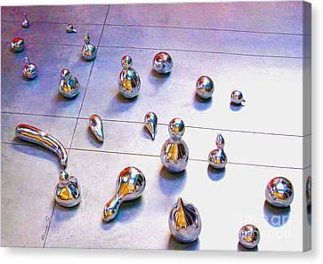 Digital Installation Art Canvas Print - Metal Gourd Army by Nina Silver