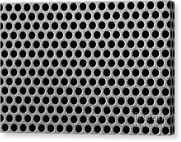 Metal Grill Dot Pattern Canvas Print by Simon Bratt Photography LRPS