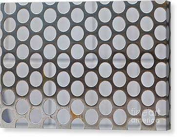 Metal Mesh Holes Canvas Print by Jim Pruitt