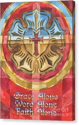 Metal Rose Canvas Print by Mark Jennings