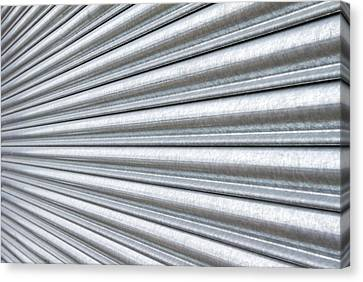 Metal Shutter  Canvas Print by Fizzy Image